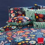La mode寢飾 秘密花園磨毛精梳棉兩用被床單組(雙人)