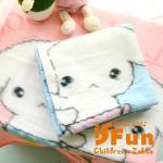 【iSFun】垂耳白狗*嬰兒纖維毛毯