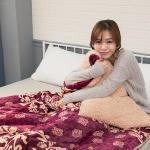 法蘭絨加厚羔羊絨大毯180x210cm-富麗年代