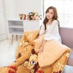 法蘭絨羊羔絨毯(150X200cm) 幸運熊