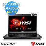 msi微星 GL72 -893TW 17.3吋 GTX960M WIN10