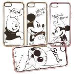 【Disney 】iPhone 6 Plus/6s Plus 時尚質感電鍍系列彩繪保護套-人物系列(史迪奇)