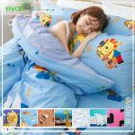 【eyah宜雅】全程台灣製100%精梳棉單人床包二件組-可愛風(多色可選)(粉嫩甜心)