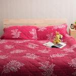 【Ally】雙人四件鋪棉蜜絲絨唯美浪漫床包被套組