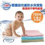 【ENNE】幸運草系列~3M吸濕排汗專利~兒童防水保潔墊70X90(B0036-C)(藍色)