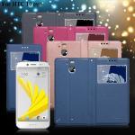 XM HTC 10 evo 宇宙之星視窗支架皮套(可人桃)