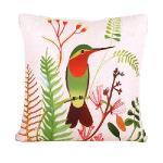 童趣插畫風 舒適兩用棉被抱枕/靠枕/午睡枕 (綠頭鳥)