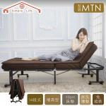 【Simple Life】增高型14段免組裝折疊床(贈記憶棉床墊)-MTN