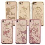 【Disney 】迪士尼時尚質感電鍍保護套-人物系列 iPhone 7 (4.7吋)(史迪奇)