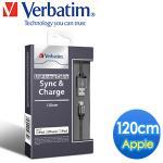 Verbatim 1.2米 黑色 Apple MFI 高效能傳輸線/充電線