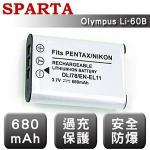 =送相機清潔組= SPARTA Olympus Li-60B 相機鋰電池