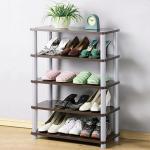 《Homelike》簡約五層開放式鞋架(二色可選)(胡桃色)