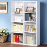 《Homelike》簡約八格收納書櫃-白色
