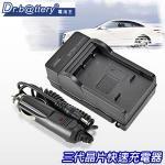 電池王 For Panasonic DMW-BLF19 智慧型快速充電器+車充