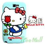 LG Optimus G Pro E988 HELLO KITTY 3D小花手機保護套(湖水綠)
