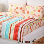 【AmoreCasa】虹彩玫瑰。加大四件式精梳棉被套床包組