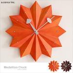 【a.cerco】勳章掛鐘 Medallion Clock(兩色可選)(橘色)