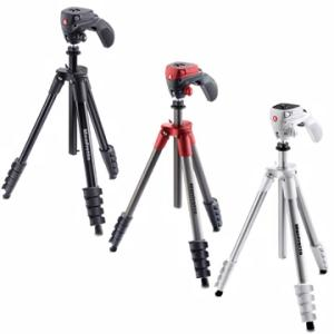Manfrotto MKCOMPACTACN COMPACT系列五節腳架(紅)-商品縮圖1